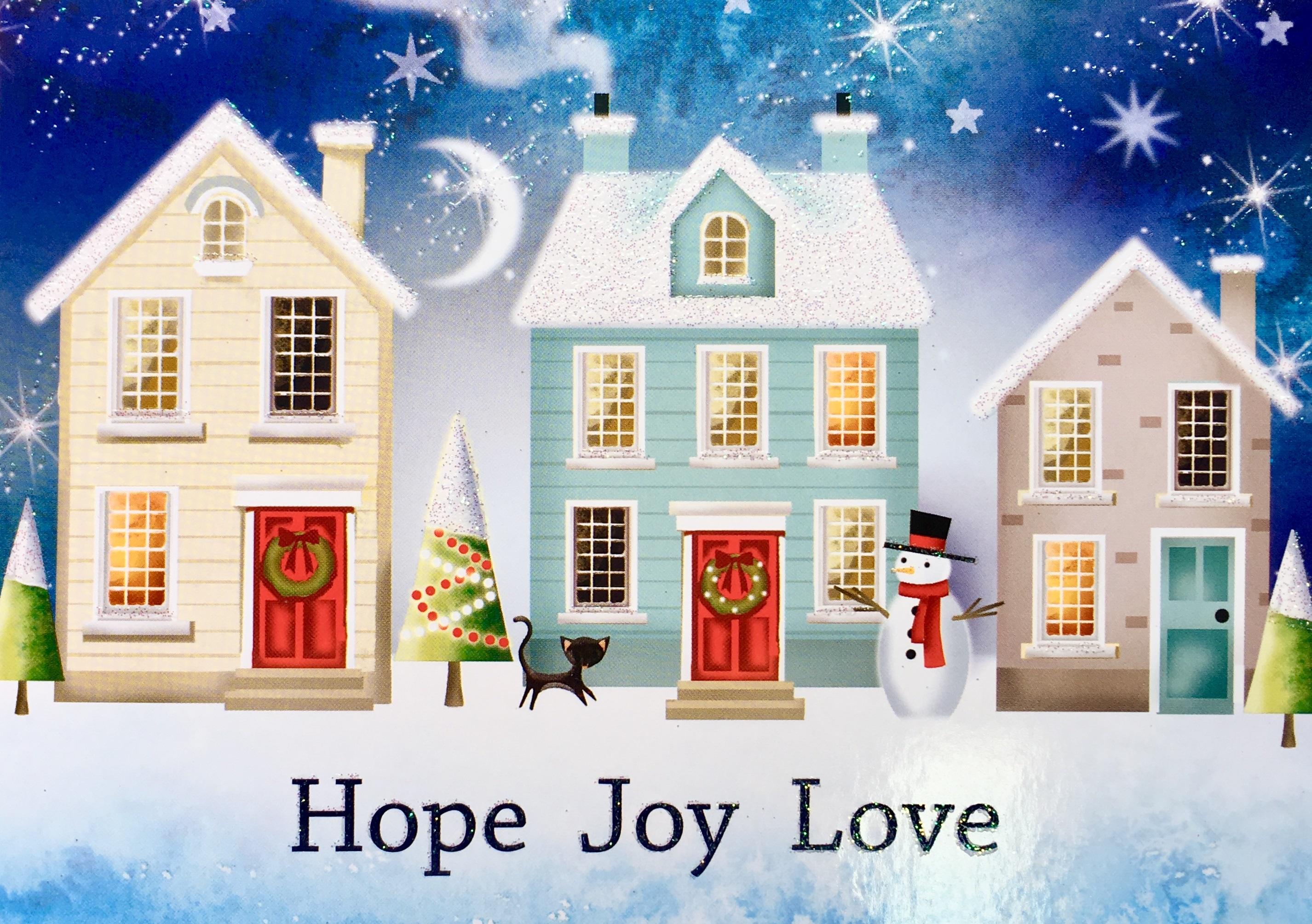 Hope, Joy, Love\' Christmas Cards - A-T Society