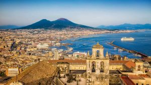 View of Naples and Vesuvius